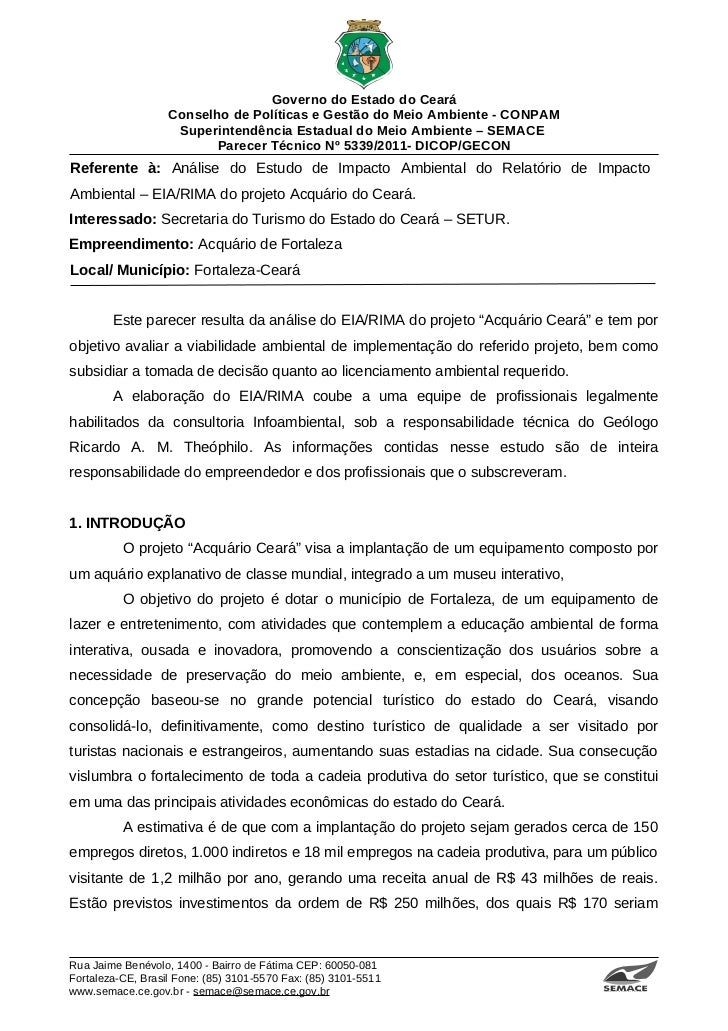 Governo do Estado do Ceará                   Conselho de Políticas e Gestão do Meio Ambiente - CONPAM                    S...
