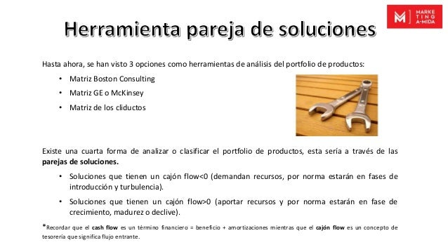 Hasta ahora, se han visto 3 opciones como herramientas de análisis del portfolio de productos: • Matriz Boston Consulting ...