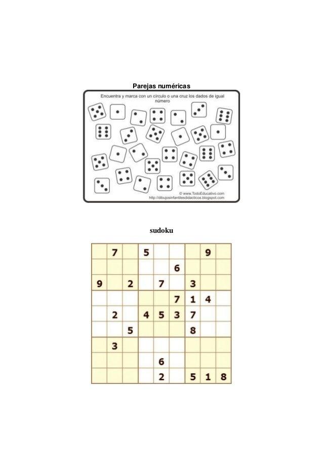 Parejas numéricas     sudoku
