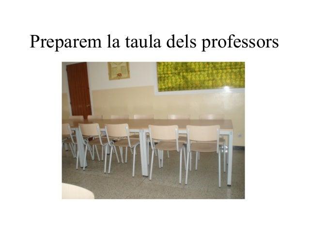 Preparem la taula dels professors