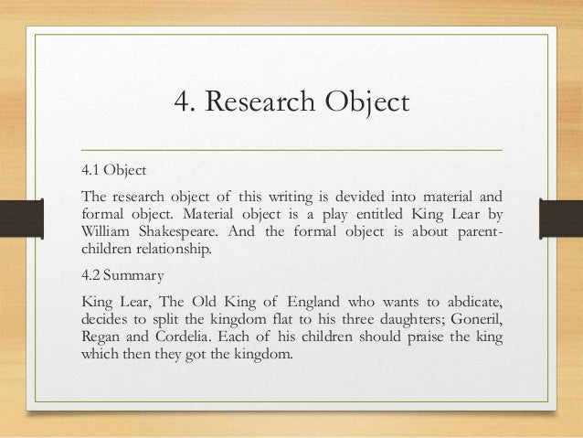 relationship between parent and child in king lear