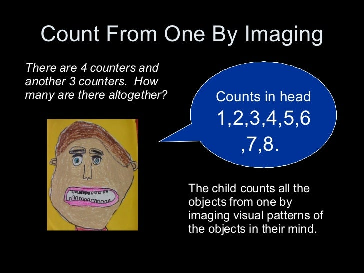 Count From One By Imaging Counts in head   1,2,3,4,5,6,7,8.   There are 4 counters and another 3 counters.  How many are t...