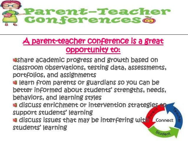 Parent teacher conference parent teacher conference is a great opportunity to 3 spiritdancerdesigns Images