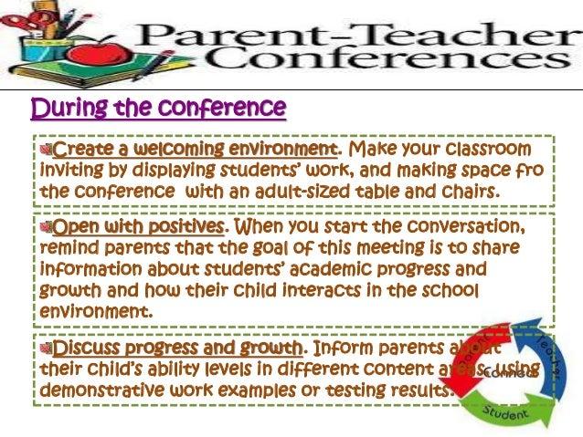 Parent teacher conference 7 avoid teacher talk altavistaventures Choice Image