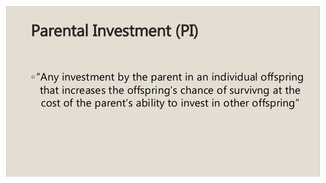 Parental investment definition