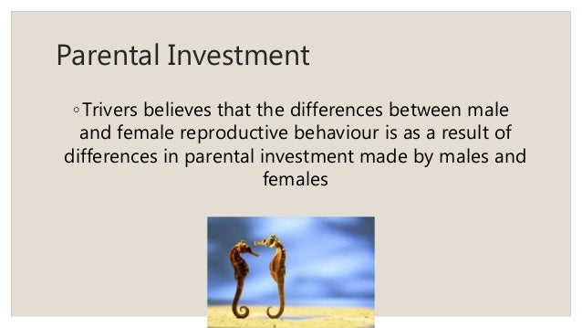Theory parental investment Parental Investment
