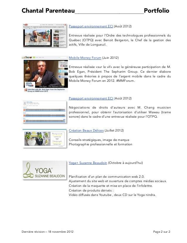 Parenteau Portfolio 18NOV2012 Slide 2