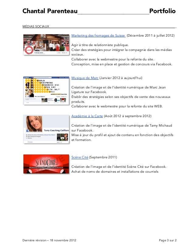 Parenteau Portfolio 18NOV2012 Slide 3