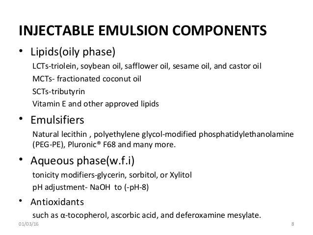 Parenteral emulsions