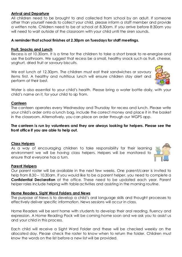 Parent info booklet 2019