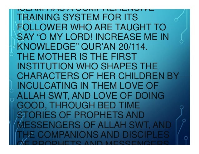The Role of a Mother in Teaching Islam to Her Children