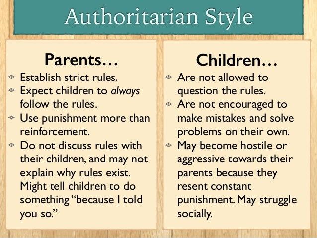 authoritarian parenting examples