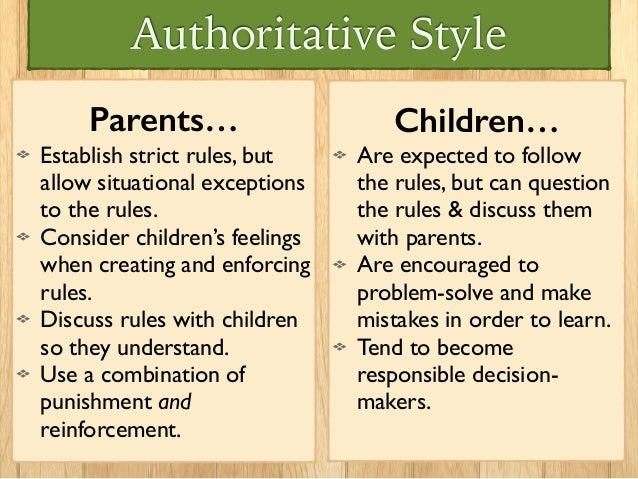 authoritative parenting style examples
