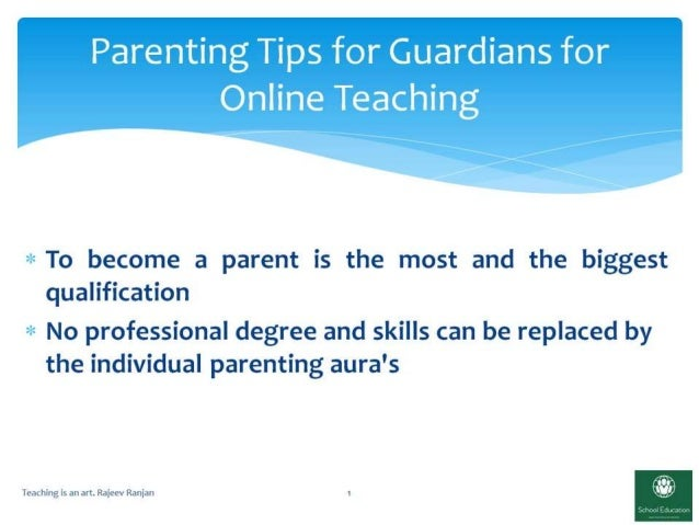 Parenting tips and guidelines for online learning