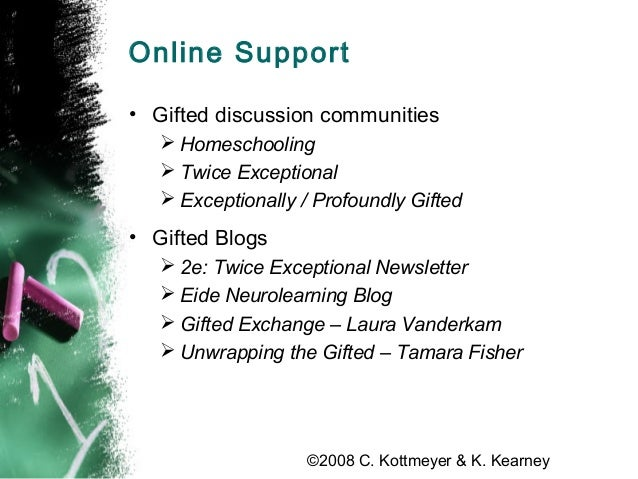 The Gifted Parent Online: Totally Free Internet Tools for Parent Support & Advocacy Slide 3