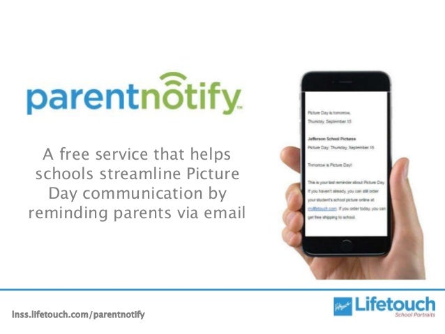 A free service that helps schools streamline Picture Day communication by reminding parents via email lnss.lifetouch.com/p...