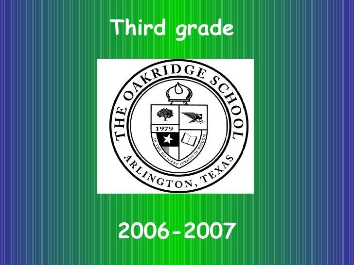 Third grade 2006-2007