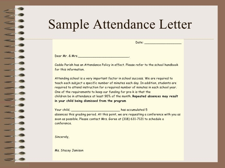 sample letter to teacher from parent about child sick