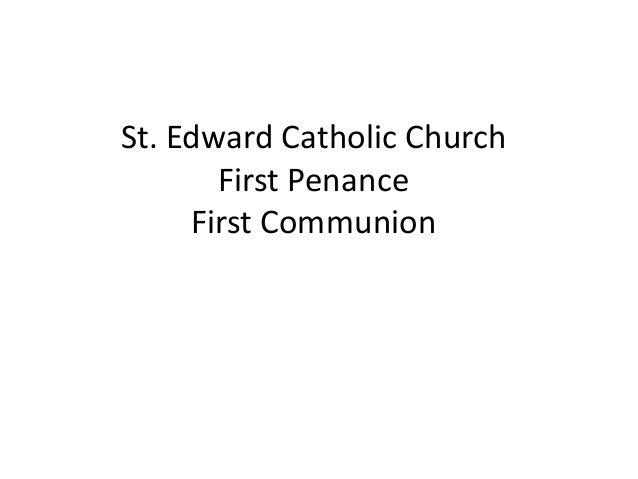 St. Edward Catholic Church First Penance First Communion
