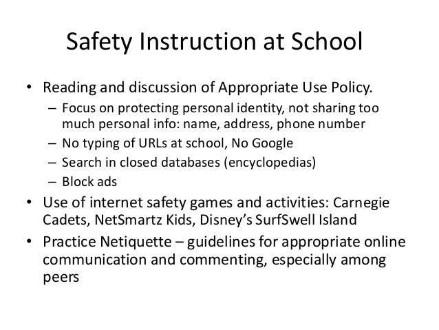 Internet Safety Parent Presentation