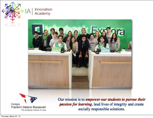 I Innovation AcademyA Our mission is to empower our students to pursue their passion for learning, lead lives of integrity...