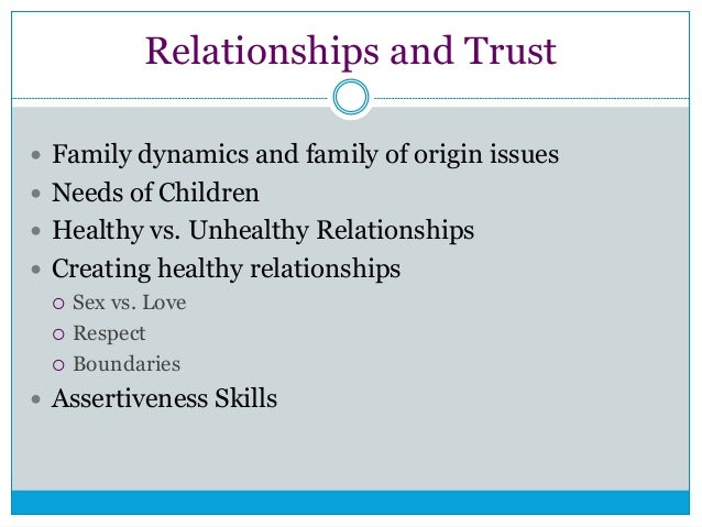 Sexual abuse and trust issues