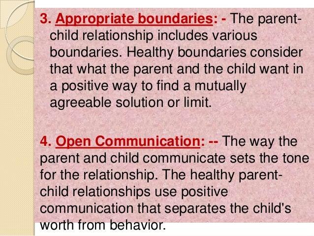 Parents child relationship