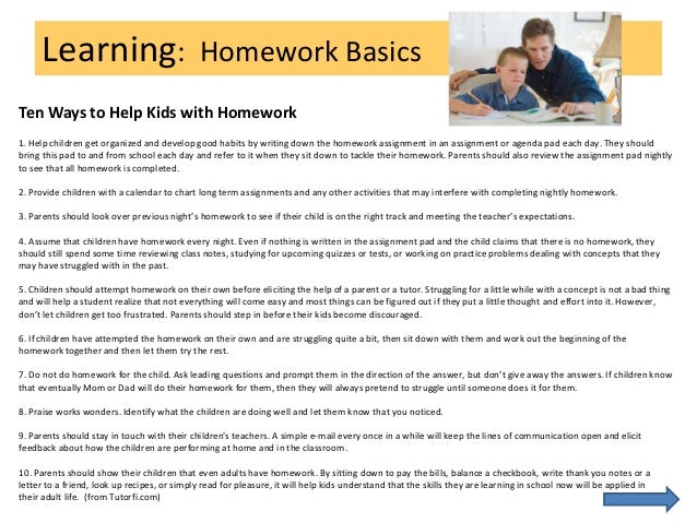 Homework writing services should be banned