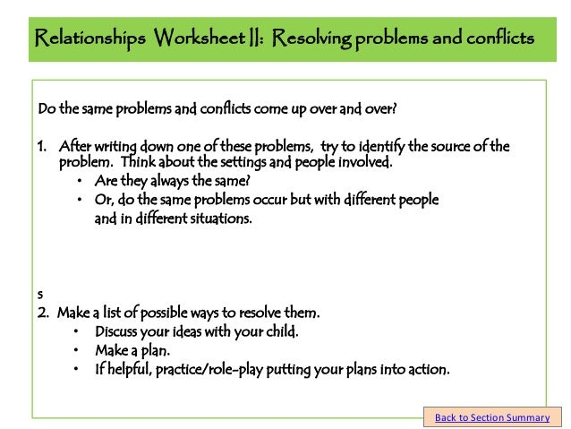 Parent seminar student guide part 2 the school years rev 1 relationships worksheet ibookread PDF