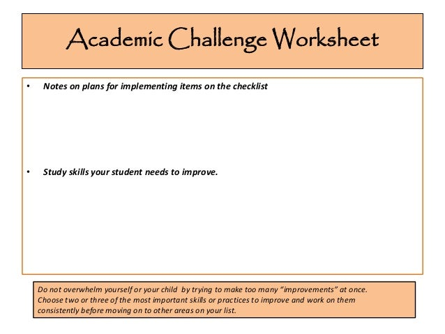 Study Skills Worksheets For High School