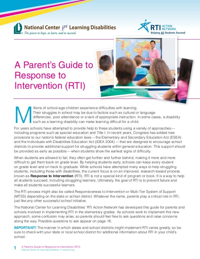 The Iep Decoded Parents Guide By >> Parents Guide Rti Final 101111 2 1