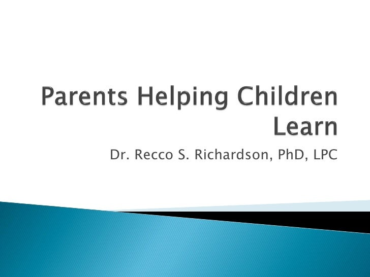Dr. Recco S. Richardson, PhD, LPC