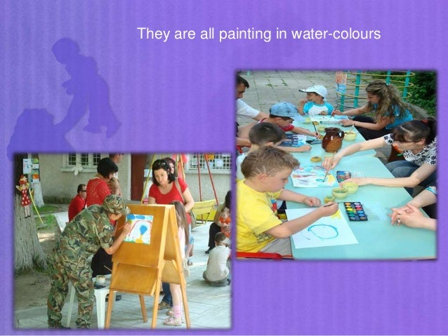 They are all painting in water-colours