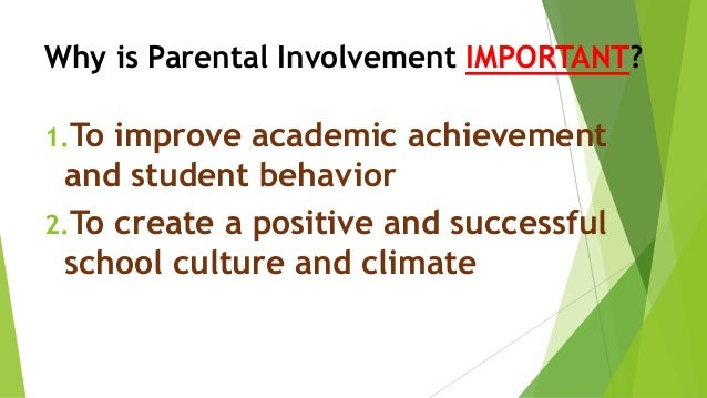 essays on parent involvement in schools Free parent involvement papers, essays, and research papers.