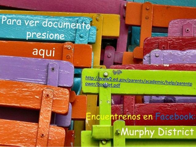 Murphy District Encuentrenos en Facebook: