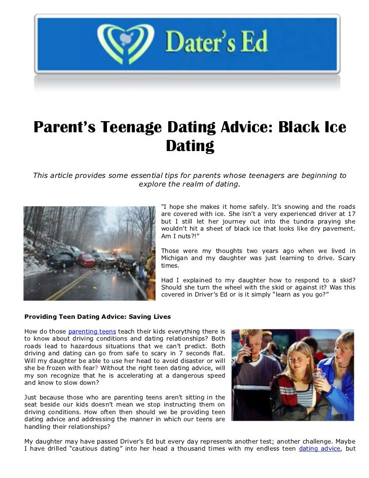 Dating advice for teenagers