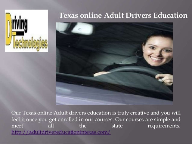 Texas Driver Education Parent Taught Self Taught & Adult - Online