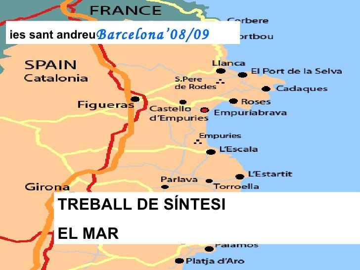 ies sant andreu Barcelona'08/09 TREBALL DE SÍNTESI EL MAR