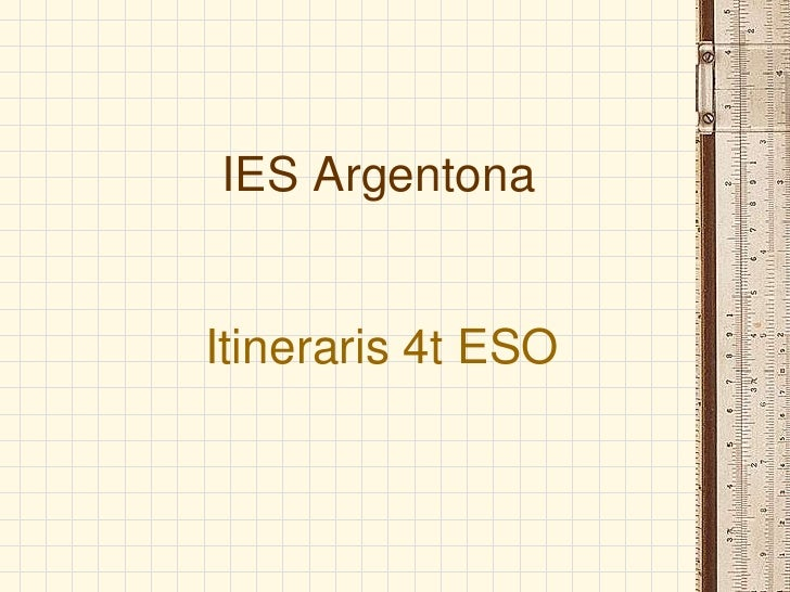 IES Argentona   Itineraris 4t ESO