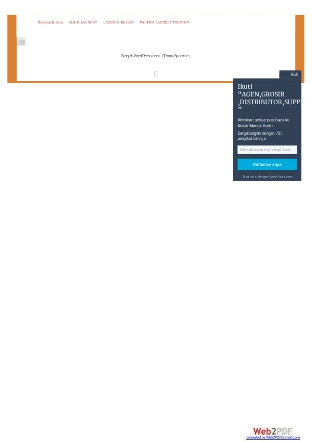 "Blog di WordPress.com. | Tema Spectrum. DeterjenKiloan BISNISLAUNDRY LAUNDRYKILOAN PARFUMLAUNDRYPREMIUM Ikuti Ikuti ""..."