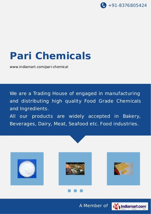 +91-8376805424 A Member of Pari Chemicals www.indiamart.com/pari-chemical We are a Trading House of engaged in manufacturi...