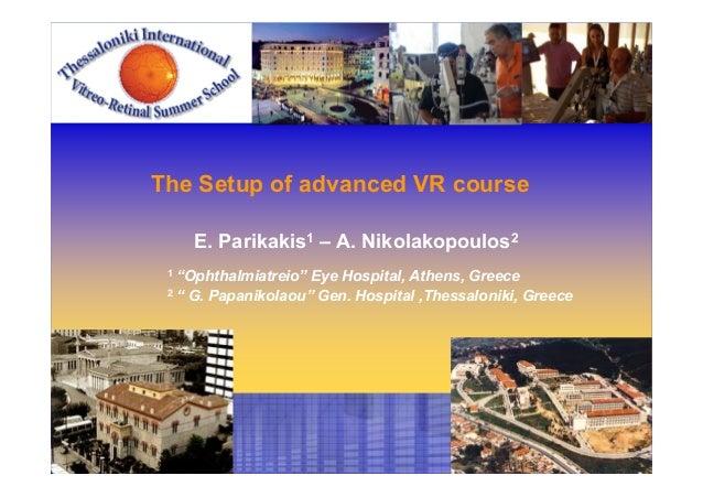 Parikakis the setup of advanced vr course
