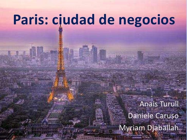 Resultado de imagen para paris ciudad de negocios