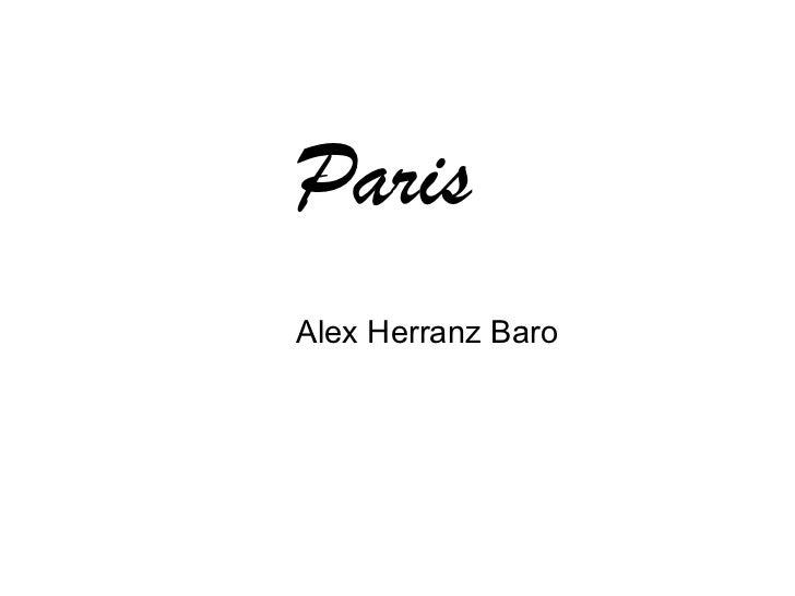 Paris Alex Herranz Baro