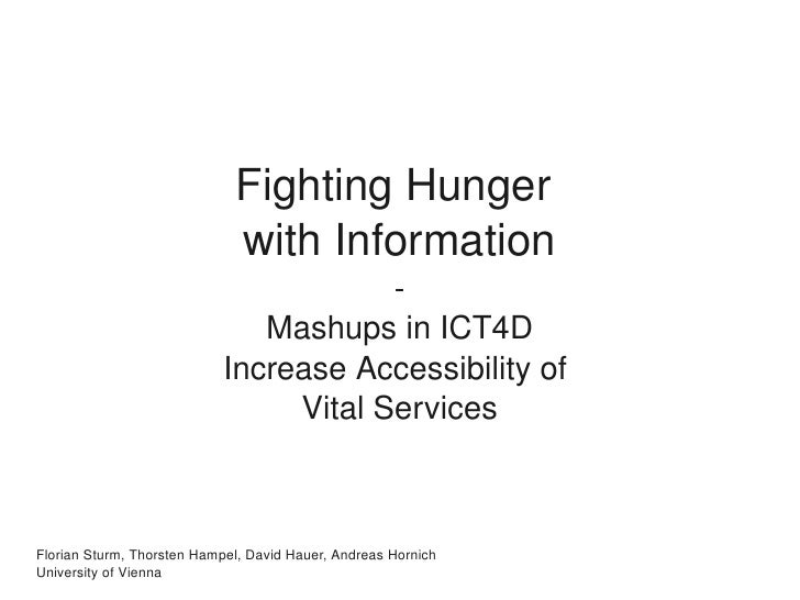 Fighting Hunger                               with Information                                         ­                  ...