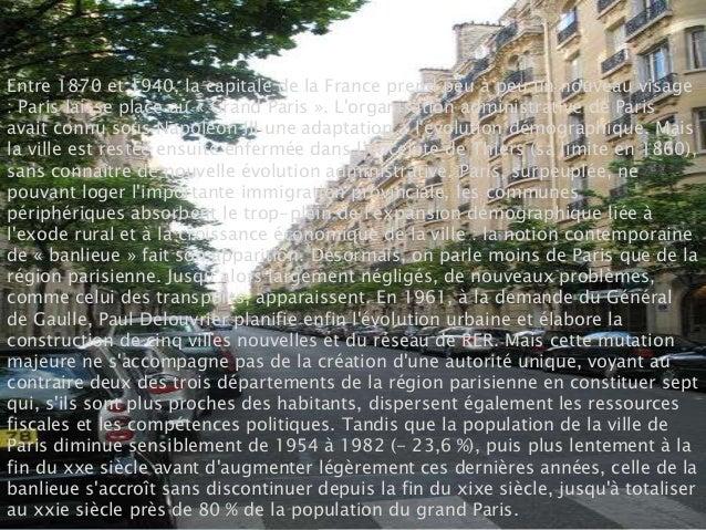 Entre 1870 et 1940, la capitale de la France prend peu à peu un nouveau visage: Paris laisse place au « Grand Paris ». Lor...