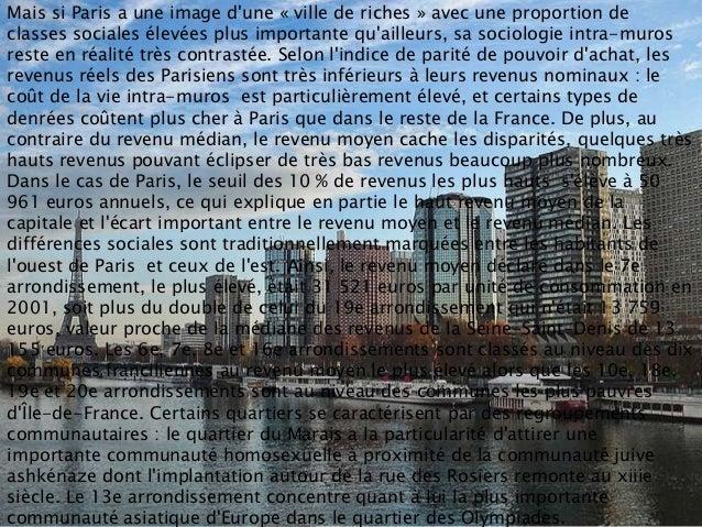 Mais si Paris a une image dune « ville de riches » avec une proportion declasses sociales élevées plus importante quailleu...