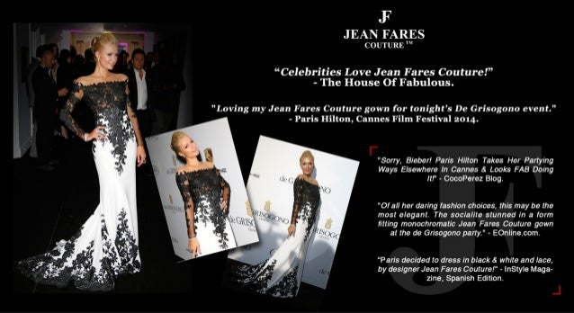 Most international press media applauded this Jean Fares gown worn by Paris Hilton, Cannes 2014