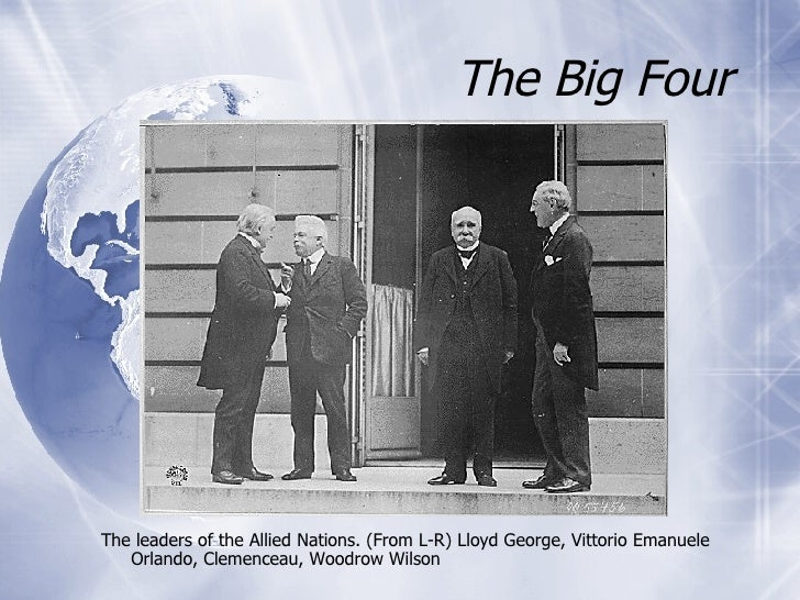 "big three and paris peace conference ( ""their differing aims meant that the big three were never going to be  the aims and motives of the ""big 3"" at the paris peace conference author: tarr_r."
