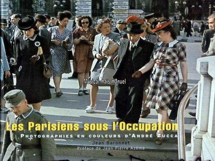 Ces photos ont été réalisées dans lecadre de la propagande dugouvernement de Vichy ce quiexplique cette impression de douc...